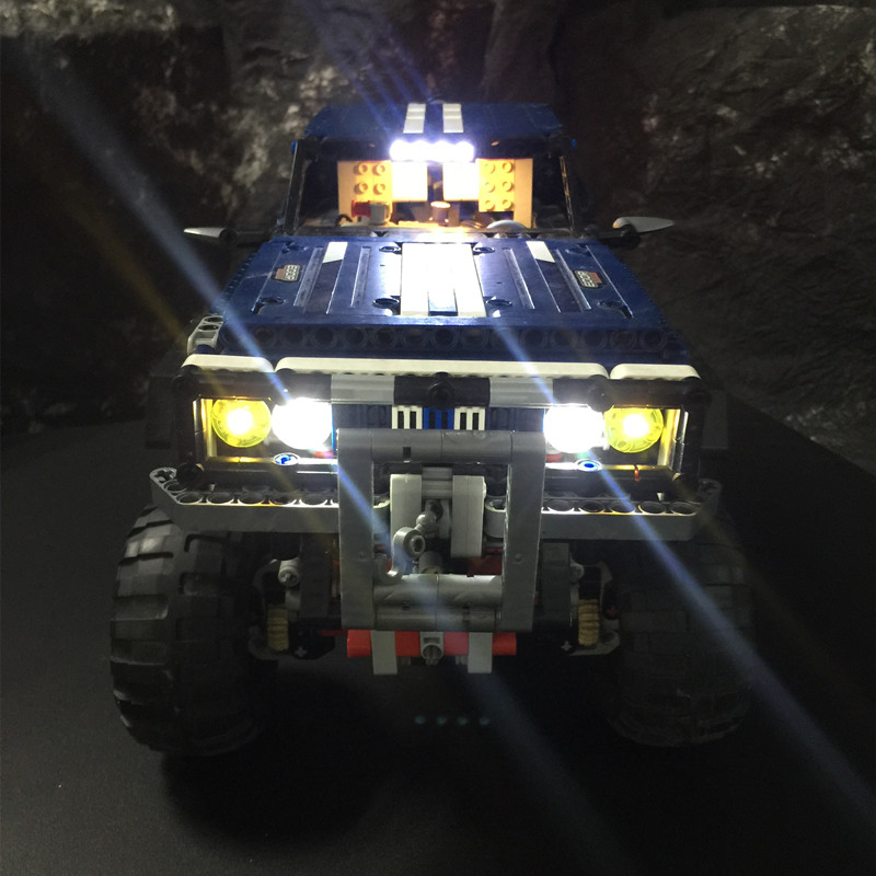 LED light up kit for lego Technic series 41999 and 20011 Super classic limited edition of off-road vehicles lepin 20011 1605 pcs super classic limited edition of off road vehicles model building blocks bricks compatible toy 41999