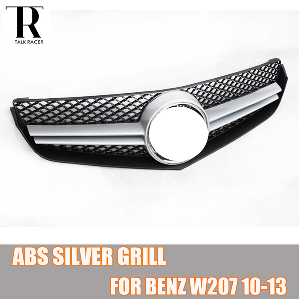 W207 C207 ABS Silver Front Bumper Grill Grille for Benz W207 C207 E260 E300 E350 Coupe 2010 2011 2012 2013|Racing Grills| |  - title=