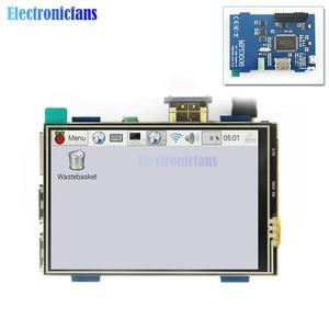 Image 5 - 3.5 inç fiziksel çözünürlük 480x320 LCD ekran modülü LCD HDMI USB dokunmatik ekran gerçek HD 1920x1080 ahududu 3 Model B