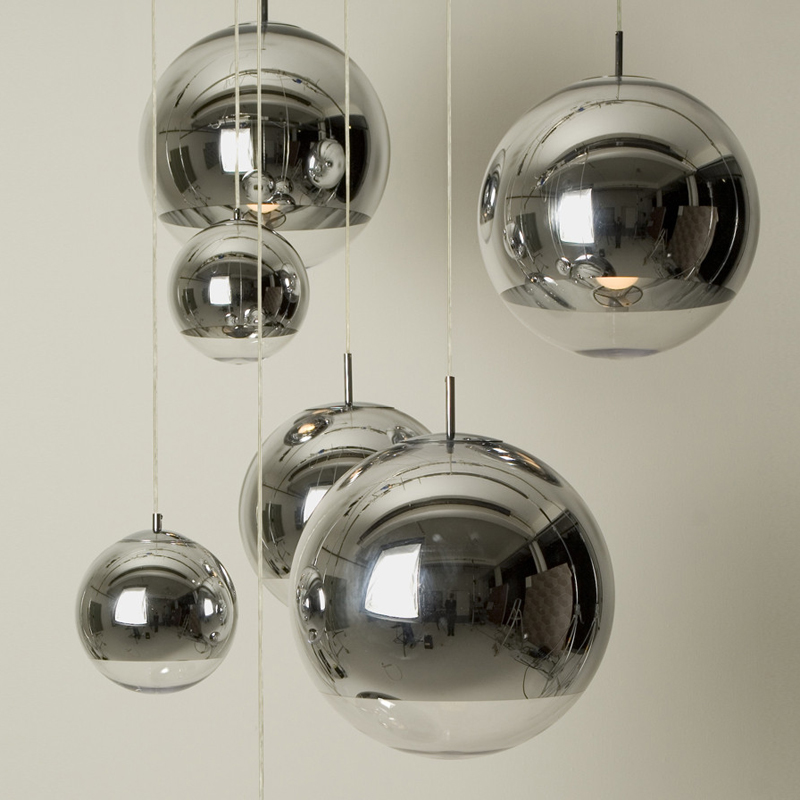 Diameter 20/ 25/ 30/ 35/ 40/ 50 CM Mirror Ball Pendant Light Glass Suspension Lamp Lighting Fixture for Dinning Room щебень фракция 20 40 мм 50 кг