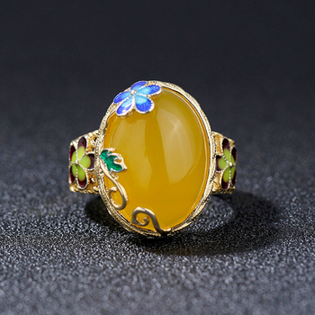 Agate Adjustable Handmade Ring5