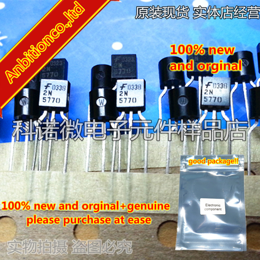 10pcs 100% New And Orginal   2N5770 TO-92  NPN RF Transistor In Stock