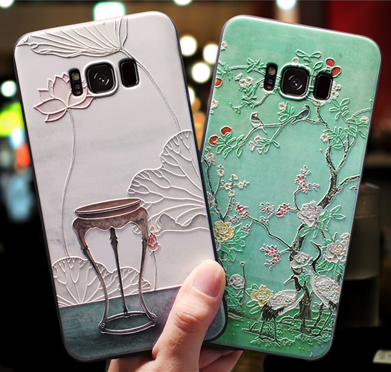 3D Relief Case For Samsung Galaxy S10 Lite J4 Plus J6 A9 2018 A3 2016 A5 2017 J3 J7 Note 8 9 S6 S7 Edge S8 S9 Plus A8 Stars Case