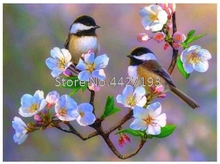 5D DIY Diamond painting Birds Flowers Full Drill Mosaic Rhinestone cross stitch kits handmade embroider Crafts