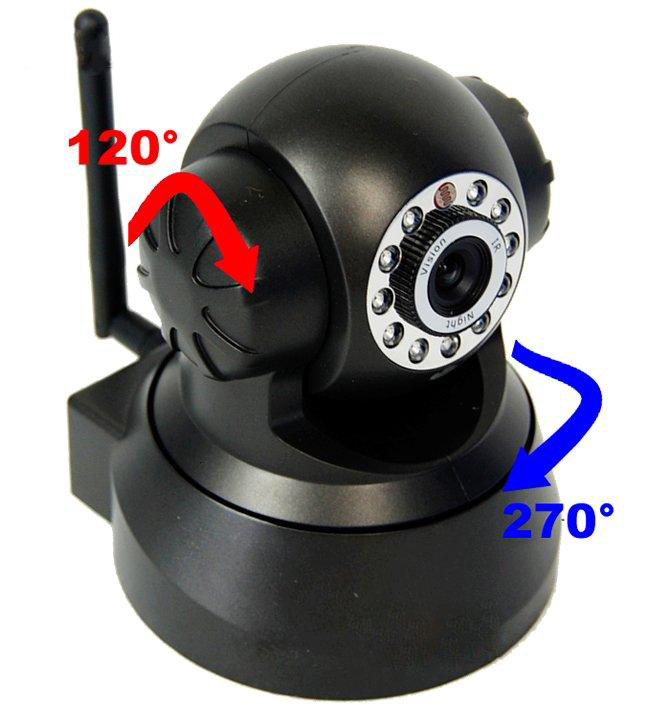 WIFI wireless network camera phone monitoring infrared night vision two-way voice wireless wifi