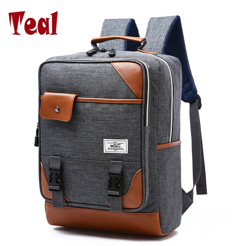 2017 Backpack Women Backpack Male Canvas Bag Laptop Backpack Teenager Girls School Backpacks Vintage Female Anti-Theft Bags