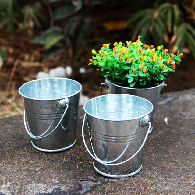 Mini Seed Buckets Nursery Pots Baby Shower Small Pails Flower Pot Wedding Favor