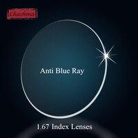 Chashma Chất Lượng Cao Chỉ Số 1.67 Index Chống Blue Ray Tầm Nhìn Duy Nhất Ống Kính Quang Học Công Thức Glass Rõ Ràng Ống Kính
