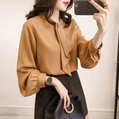2019 printemps automne 4XL chemise dames Blouse femmes offre spéciale Plus les tailles Blouse chemises Blouse décontractée manches longues bureau haut