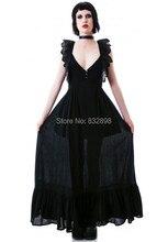 Punk Princess Black Lace Shoulder Connect Dress  Prettily Women's Dresses