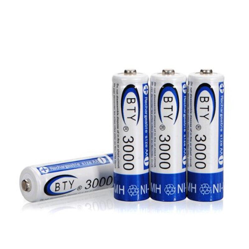 ②12 шт. AA LR06 3000 мАч 1.2 В Ni-MH аккумулятор/RC 2A BTY ...
