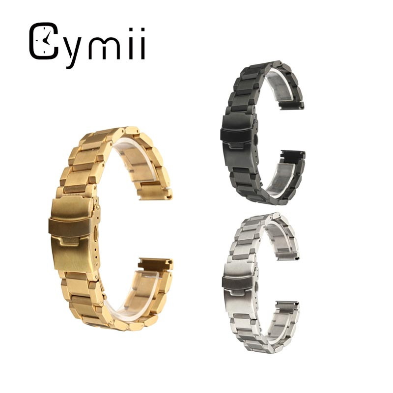 Hot Selling 18mm Sliver Watch Strap Best Promotion Stainless Steel Watchband With Double Flip Lock Buckle Metal Watch Bracelet hot selling stainless steel watch women