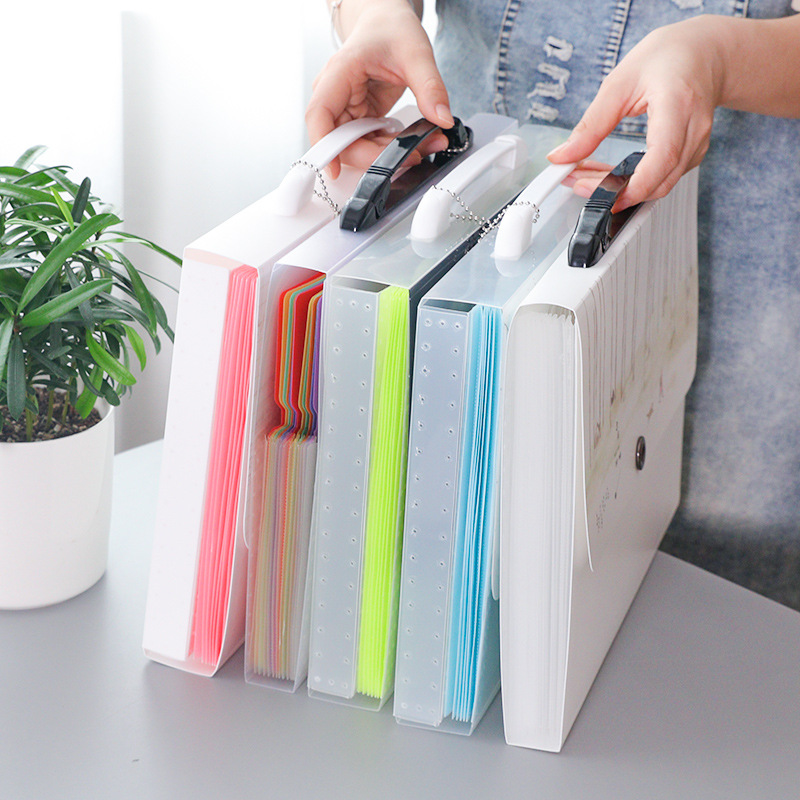 new Filing products Folder Multi-layer Organ Bag Student's Book Paper Storage Box A4 Insert Paper Test Paper Bag бумага для писем other paper products brand 0014