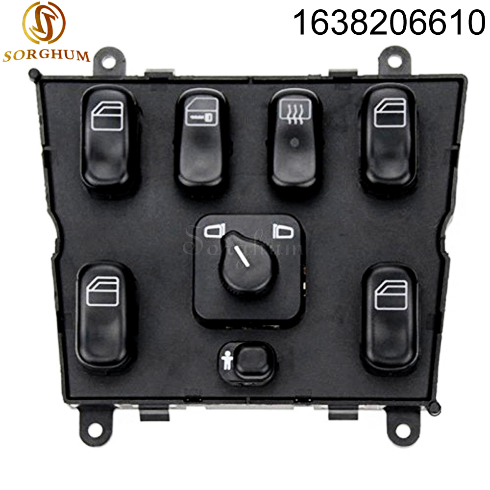 New Power Window Switch 1638206610 for mercedes ml <font><b>w163</b></font> ml320 1998-2002 1998 1999 A 1638206610 A1638206610 image