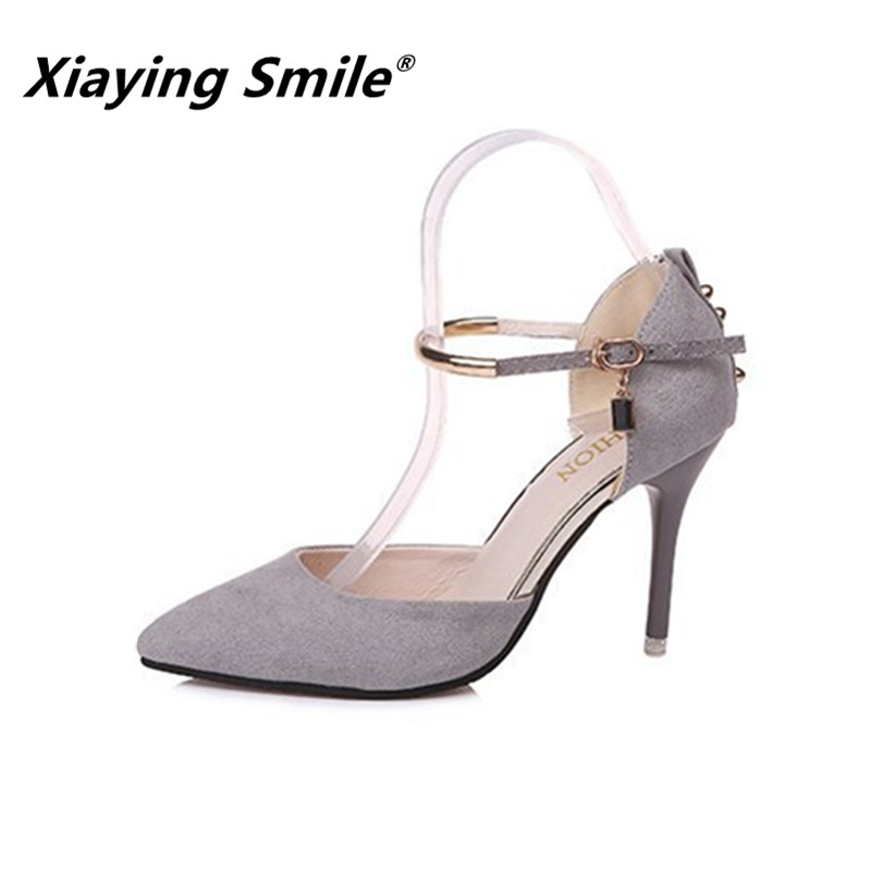 Xiaying Smile Woman Sandals Shoes Women Pumps Spring Summer Pointed Toe Sexy Fashion Casual Thin Heel