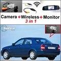 3 in1 Especial Câmera de Visão Traseira Sem Fio + Receptor + Monitor espelho Fácil de Backup do Sistema de Estacionamento Para Mazda 323 Familia Allegro