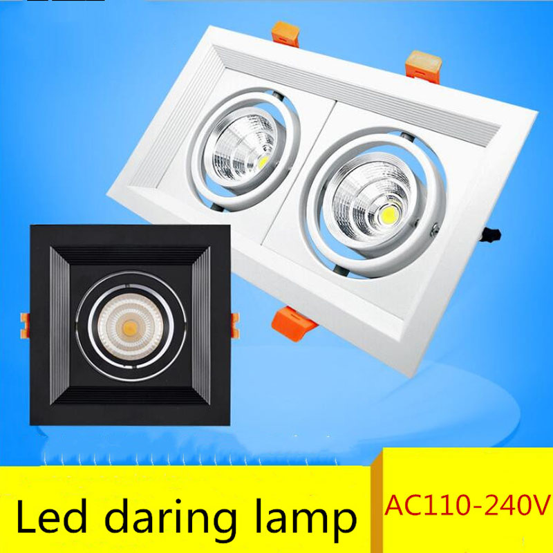 20w Led Dimmable: Super Bright Recessed Square Downlight COB 10w 20W 30w LED