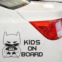 "Funny Batman ""Kid on Board"" Auto Vinyl Sticker"