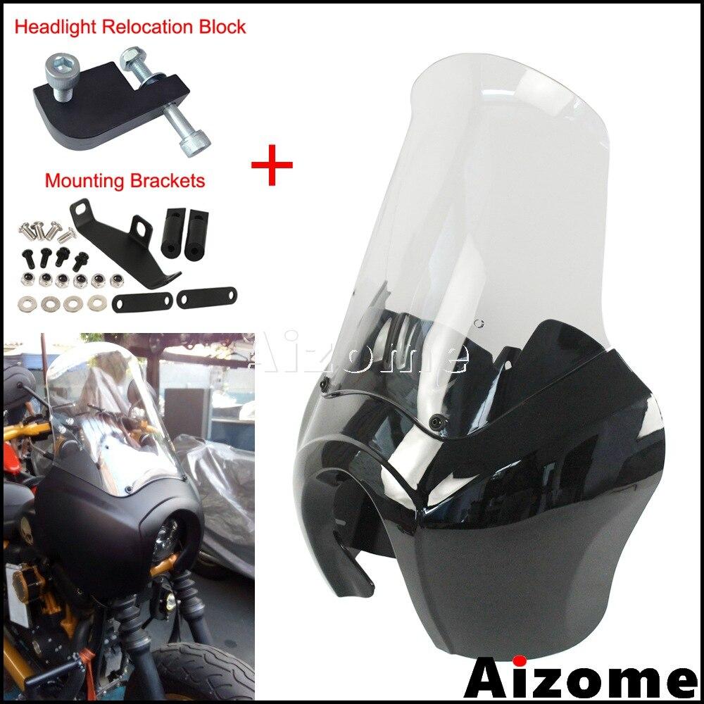 Carénage de phare avant de moto avec pare-brise 15