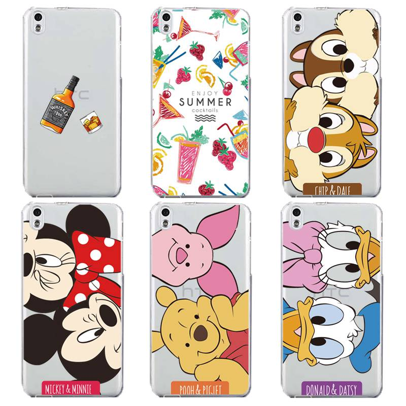 Ice cream Soft Clear TPU Phone Case For HTC D820 M8 M9 A9 Silicone Micky Minnie Wine Pooh Painted Coque Cute Cover Free Shipping winnie the pooh iphone case
