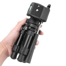 Mini Mesa trípode cámara de aluminio MESA DE MESA estable escritorio panorámico portátil con trípodes tridimensionales cabeza de bola para Canon