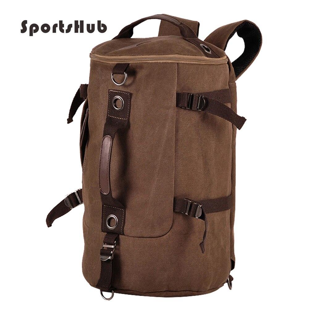 SPORTSHUB Firmly Canvas Men's Sports Bags Gym Bag Sports Designer HandBag Fitness Bags Travel Case Workout Shoulder Bag SB0008