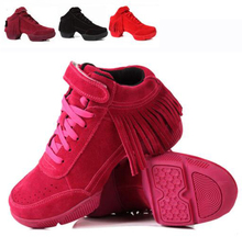 New Brand Fringe Professional Sports Leather Dance Shoes Sneakers For Woman Platform Hip Hop Shoes Modern Dance Jazz Shoes