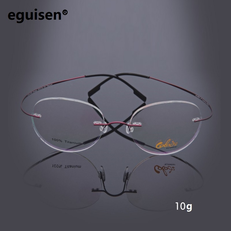 B titanium super elastic ultra light rimless eyeglasses frame goggles myopic eyes 8506 Round or square lenses oculos de grau8502