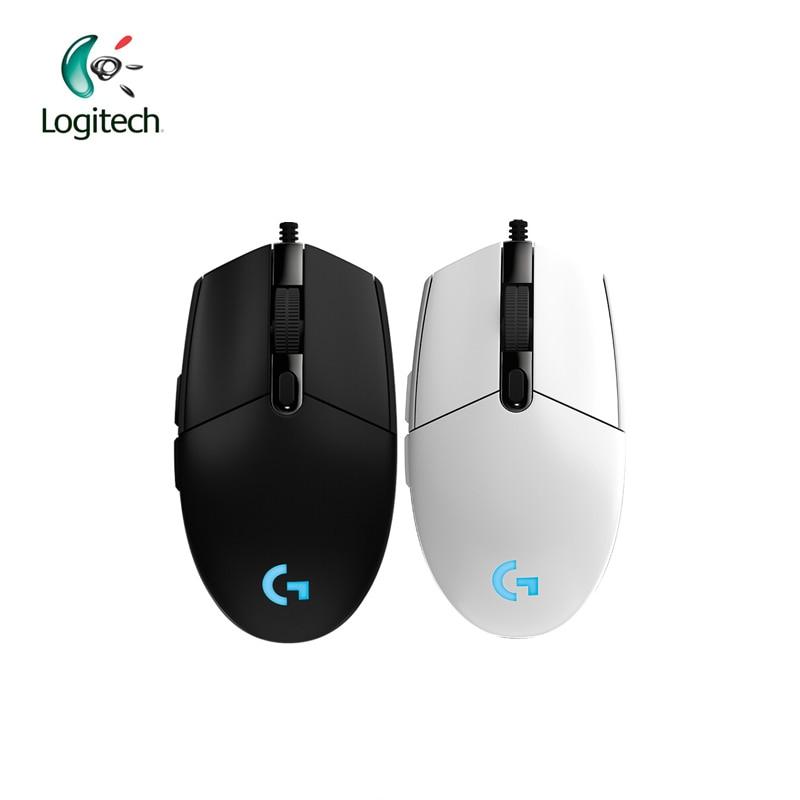 Logitech G102 проводной Мышь для Оконные рамы 10/8/7 проводной Игры Мышь с 6000 точек/дюйм оптических RGB огни для ПК/Desktop Официальный подлинной ...