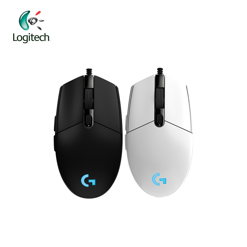Logitech G102 Wired Mouse dla Windows 10/8/7 Wired Game Mouse z 6000dpi Optyczne oświetlenie RGB na PC / Desktop Official Genuine