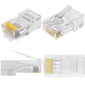 Image 4 - RJ45 connecteur Cat 6 Plug 8P8C modulaire réseau Ethernet LAN câble Cat 6 tête prise 20 pièces 50pcs 100 pièces RJ45 Cat6 sertissage connecteur