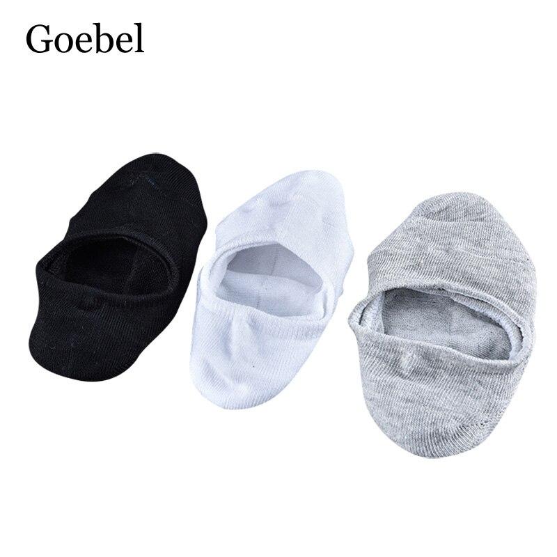 Goebel Man Boat Socks Casual Shallow Mouth Bamboo Fiber Men Socks Solid Color Invisible Male Short Socks 3 pairs/lot