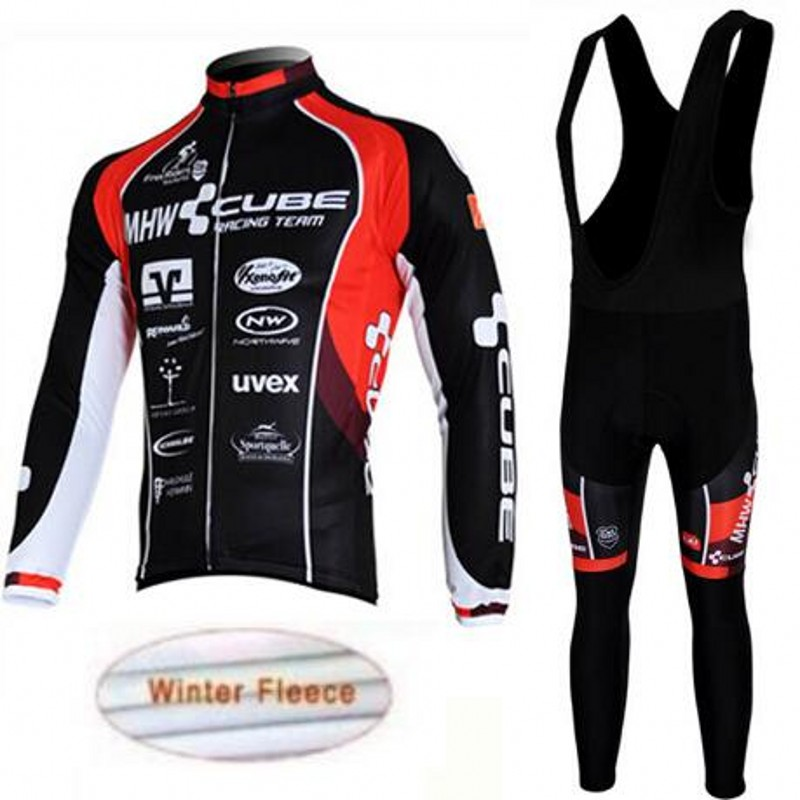 Ropa Ciclismo long-sleeved cube cycling jerseys/wool in winter to keep warm bike clothes/MTB sport of cycling