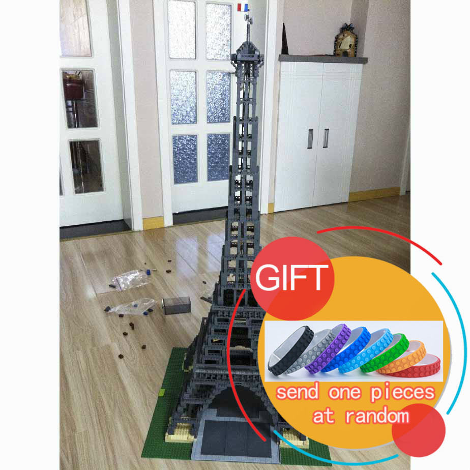 17002 3478Pcs The Eiffel Tower Model Building Kits Mini blocks Blocks Compatible Children Gift 10181 toys lepin loz world famous classic architecture assembe mini building blocks educational model toys birthday gift for child eiffel tower