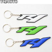 hot sellig motorcycle accessories racing soft rubber motorbike key ring keychain white For YAMAHA YZF R1 yzf r1