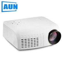 Аун проектор E07 для домашнего кинотеатра воспитания детей, 640*480 Пиксели светодиодный проектор комплект в HDMI VGA USD prot. 1080 P LED ТВ
