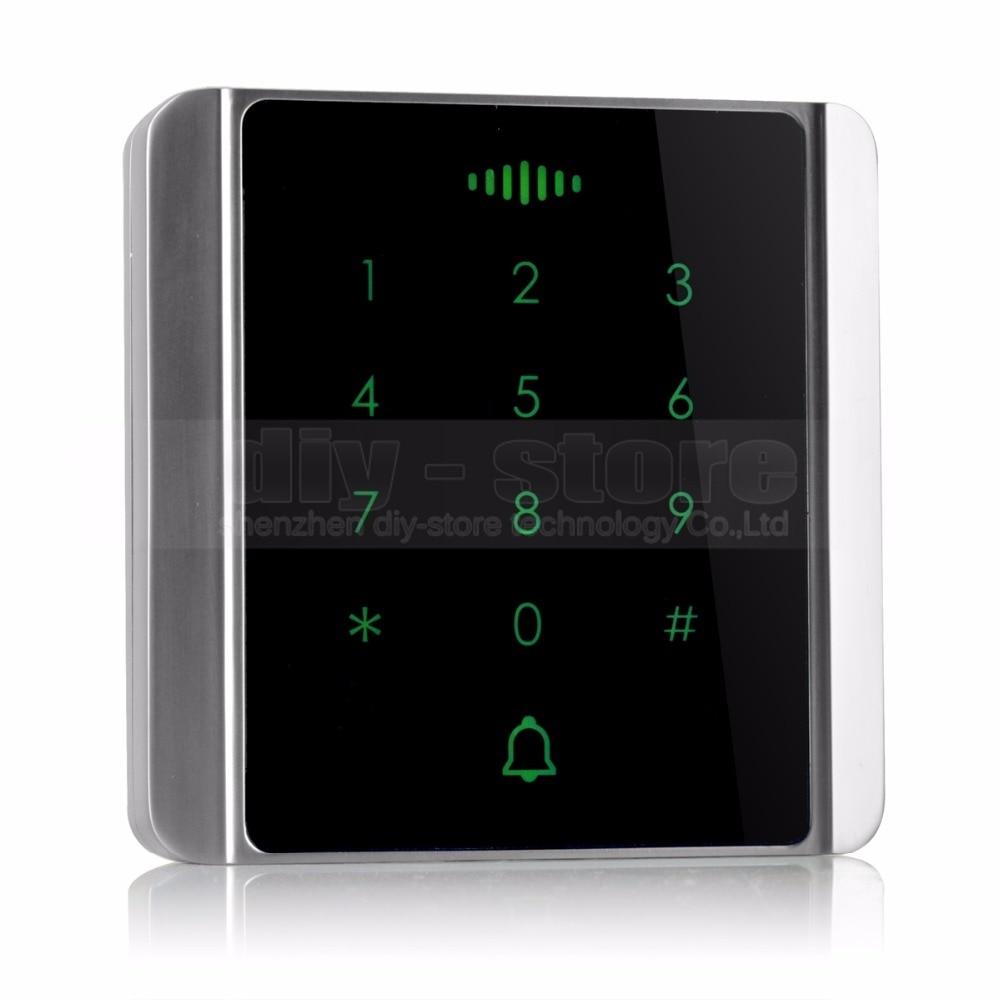 DIYSECUR 125 KHz RFID lecteur de carte écran tactile rétro-éclairage mot de passe clavier pour Kit de système de contrôle d'accès C86