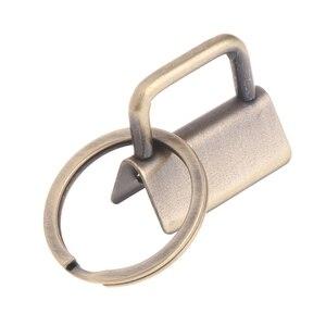 Image 3 - 10 قطعة الأجهزة مفتاح فوب 25 مللي متر المفاتيح سبليت الدائري ل المعصم السوار القطن الذيل كليب