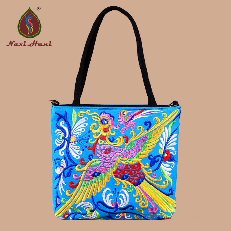 475e481799 4 colors Fashion Retro phoenix pattern canvas women handbag Ethnic crossbody  Shoulder travel bags-in Shoulder Bags from Luggage & Bags on Aliexpress.com  ...