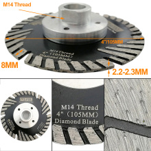 цена на DT-DIATOOL Dia 4inch/105mm Diamond turbo Saw Blade with Slant Protection Teeth Wheel Cutting Disc for Concrete Granite Marble