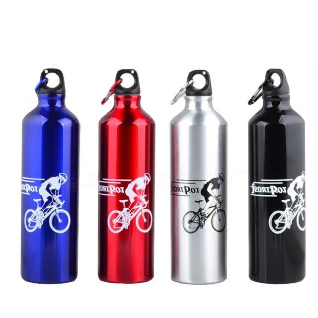 750 ml al aire libre portátil deportes bicicleta botella agua soporte ciclismo Camping bicicleta aleación de aluminio