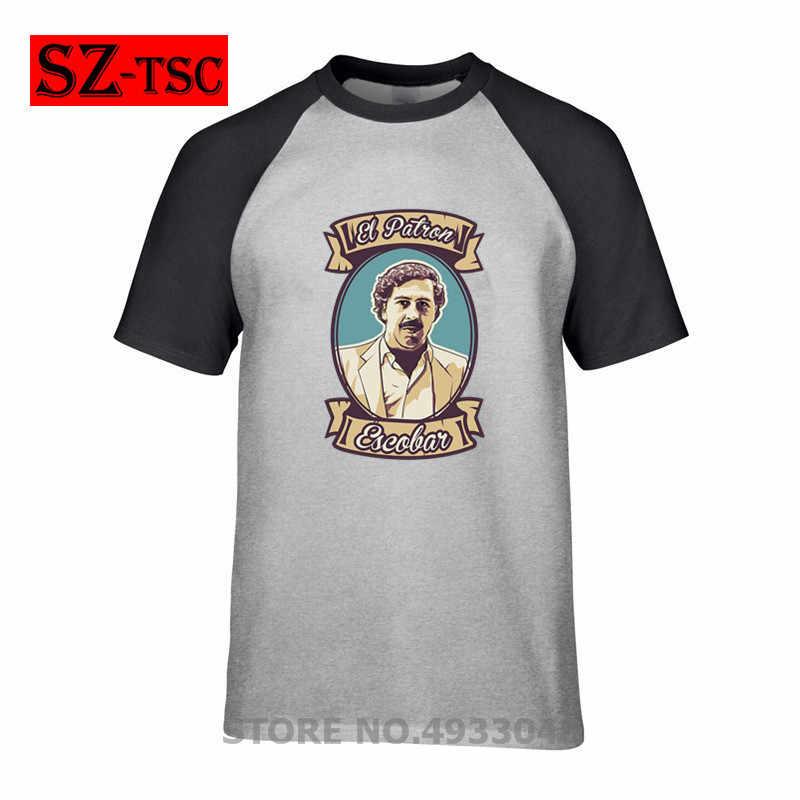 2019 футболка мужские топы el patron Narcos Pablo Escobar plata o plomo футболка Летняя одежда футболки хлопковые футболки с героями мультфильмов Гангстер