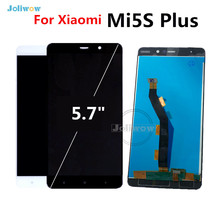 5.7 inch Black/White For Xiaomi Mi5S Plus LCD Display Touch Screen Digitizer Assembly Replacement  For Xiaomi Mi 5S Plus