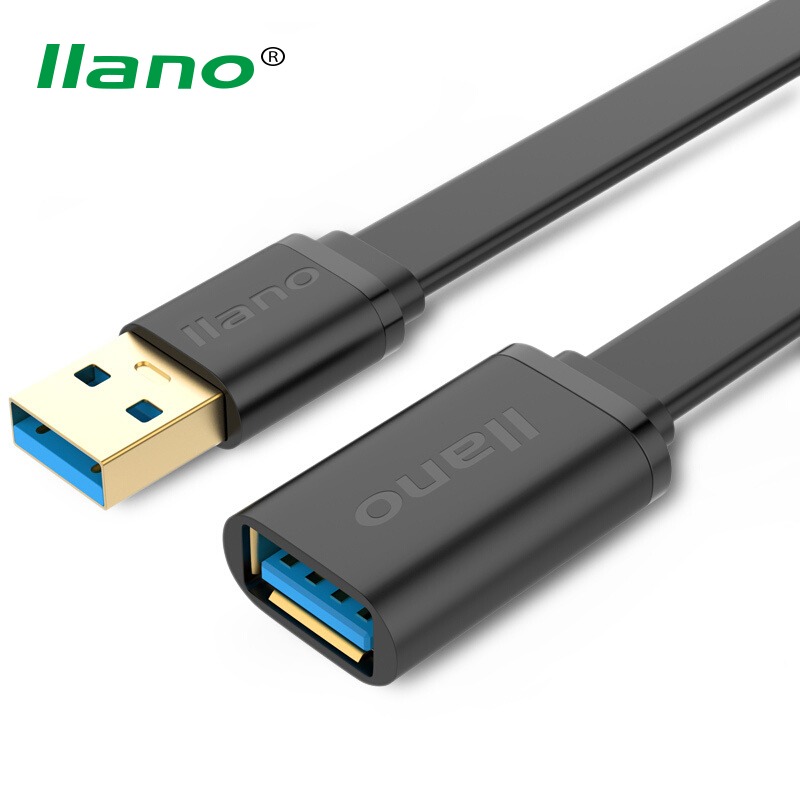 llano <font><b>USB</b></font> <font><b>3.0</b></font> Extension <font><b>Cable</b></font> Male to Female Fast Speed <font><b>USB</b></font> Data Sync Extender 1M <font><b>2M</b></font> <font><b>Cable</b></font> for Computer Laptop image