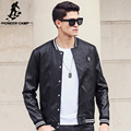 Pioneer Camp 2017 New leather jackets men brand clothing high quality fashion motorcycle black Autumn male leather Jacket 677173
