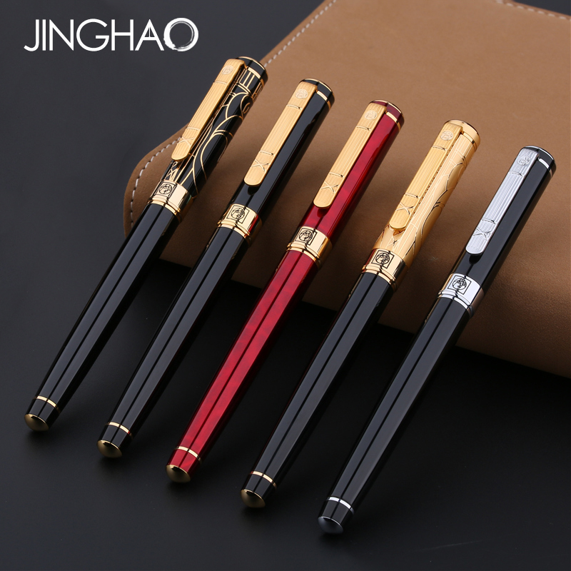 1pc Exquisite Pimio 902 Iraurita Fountain Pen Luxury 0.5mm Metal Writing Gift Stationery Ink Pens with an Original Gift Box