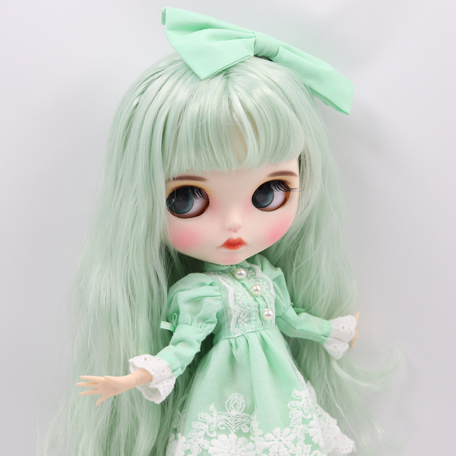 Factory Neo Blythe Doll Mint Green Hair Jointed Body 30cm