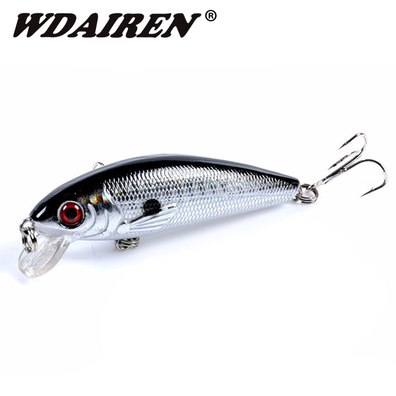 1Pcs Floating Minnow Fishing Lure 7cm 8.5g Artificial Hard Bait Wobblers Bass Lures Crankbait Pike Treble Hooks Pesca Tackle image