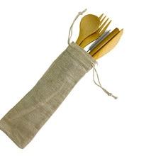 Бамбуковая соломенная ложка нож, вилка, Набор бамбуковых столовых приборов деревянная посуда многоразовые бамбуковые деревянные столовые приборы набор походных принадлежностей
