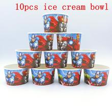 10PCS/LOT AVENGERS ICE CREAM CUPS KIDS BIRTHDAY PARTY SUPPLIES BOWLS WHOLE